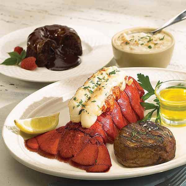Surf and Turf with lobster